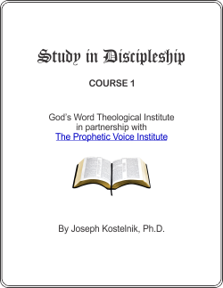 Diploma in Discipleship Course Cover