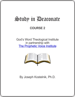 Diploma in the Deaconate Course Cover